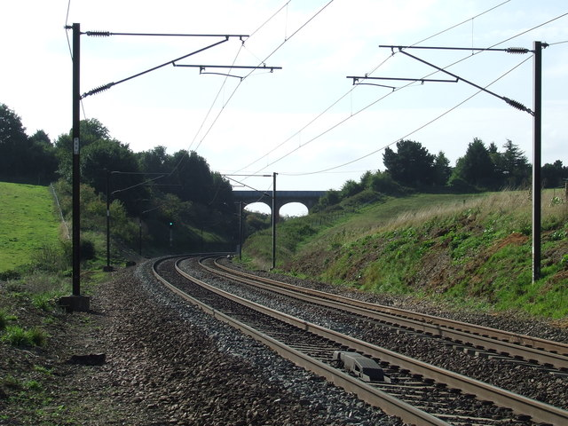 Railway Line And Bridge