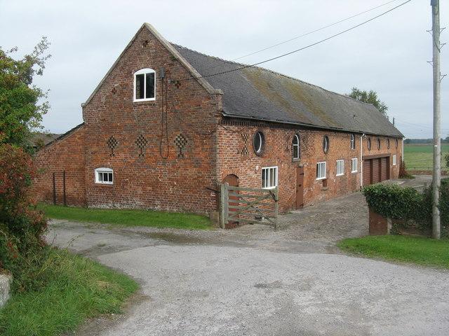 Brick barn at Wardle Old Hall