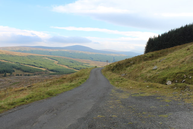 Road to Glentrool near Rowantree Hill