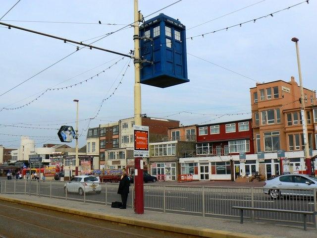 Police box, Waterloo Road tram stop, Blackpool