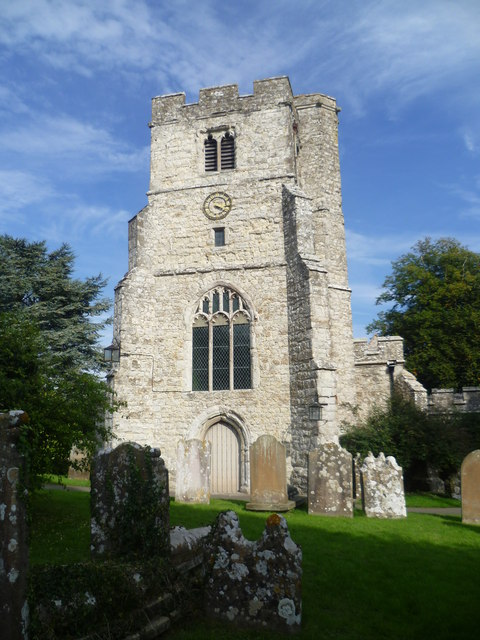 The tower of St Peter and St Paul Church, East Sutton