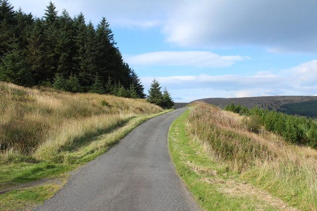 Road to Crosshill near Rowantree Hill