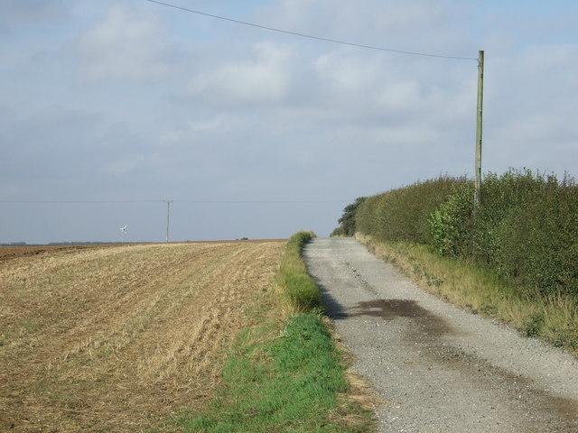 Track to Bempton Grange