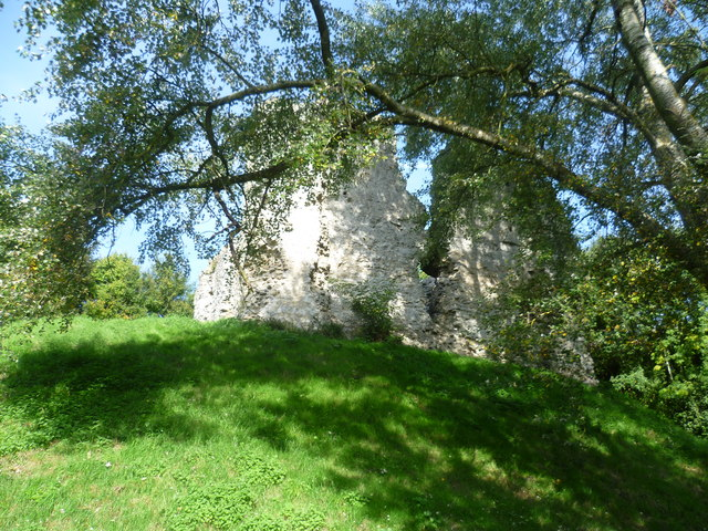 Sutton Valence Castle seen from Rectory Lane