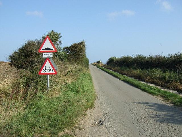 Uphill on Cliff Lane