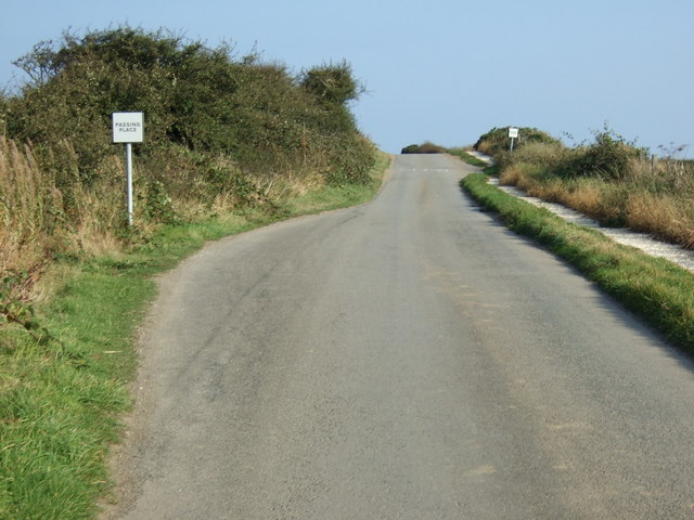 Passing place on Cliff Lane