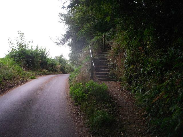 Steps beside Blacksmiths Lane