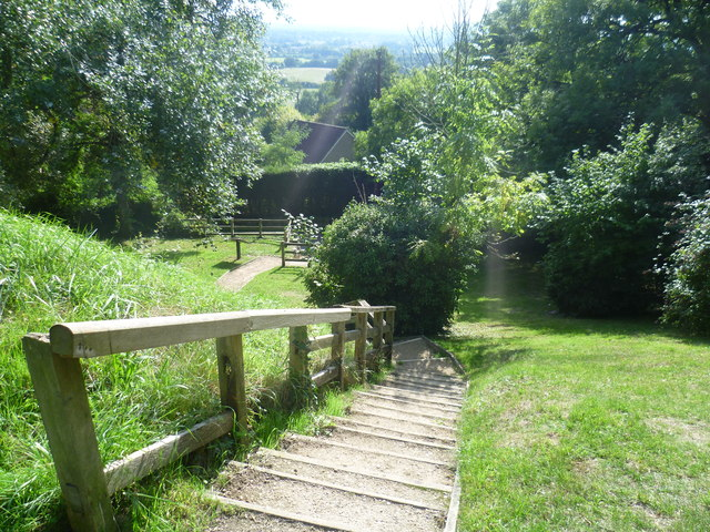 The steps up to Sutton Valence Castle from Rectory Lane