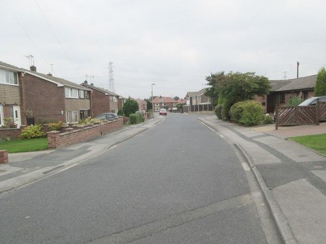 Monkwood Road - looking towards Church Lane
