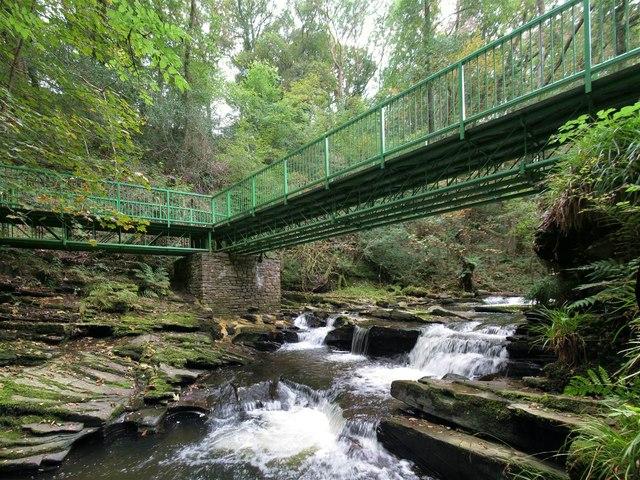 Footbridge in Cwm Du Glen