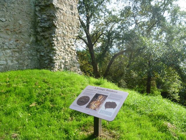 Sutton Valence Castle on its mound