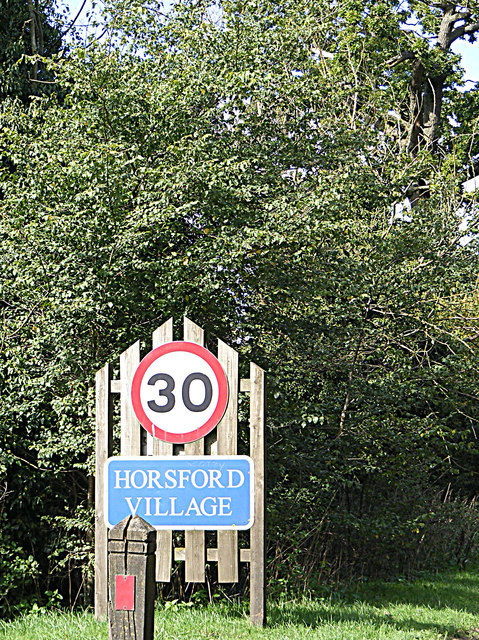 Horsford Village Name sign