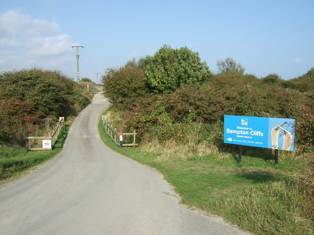Road into RSPB Bempton Cliffs