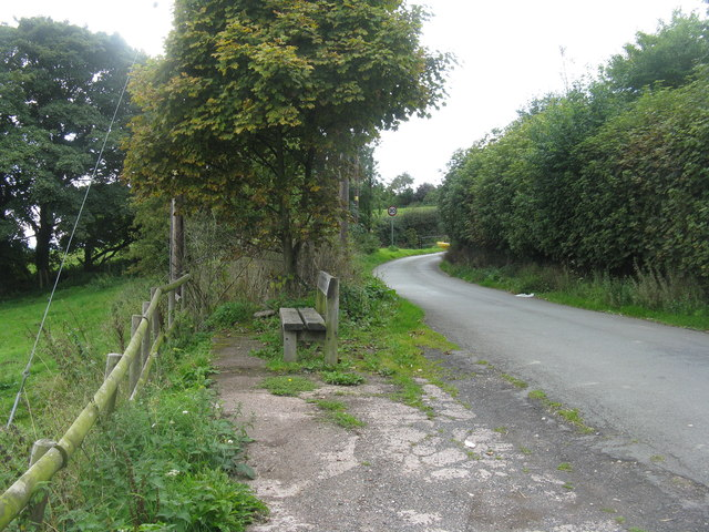 Roadside seat at Little Wenlock