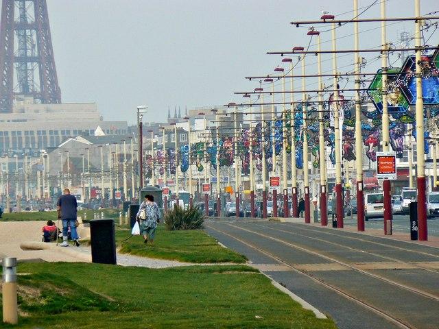 Tramway, the Promenade, Blackpool