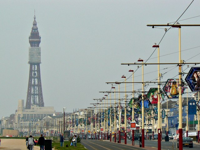 Tramway, Illuminations and the Blackpool Tower, Blackpool