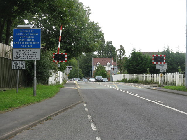 Newcastle crossing, Nantwich
