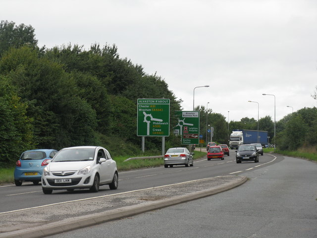 Approaching Alvaston Roundabout