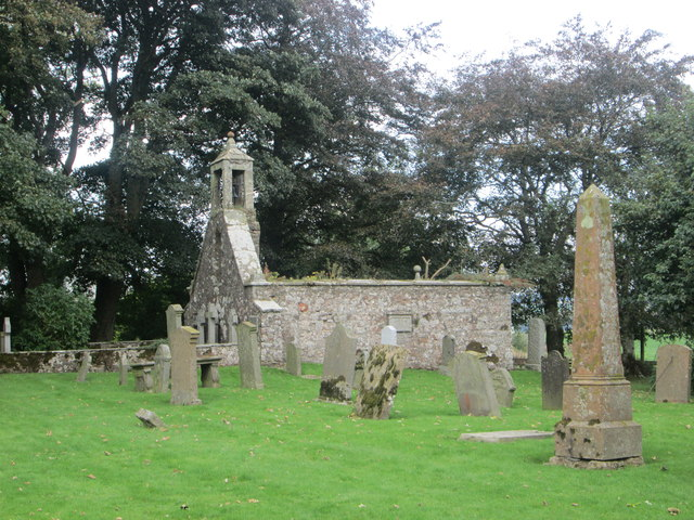 The remains of Quothquan Church and kirkyard