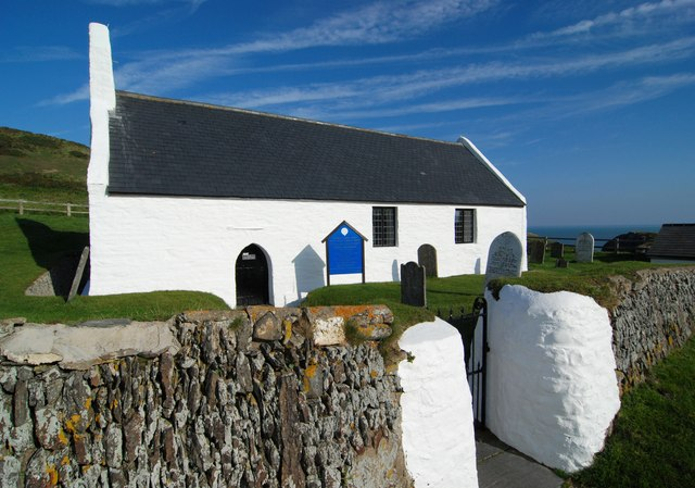 Entrance to the church at Mwnt
