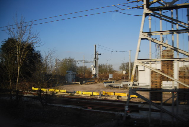 View to the line to Stone
