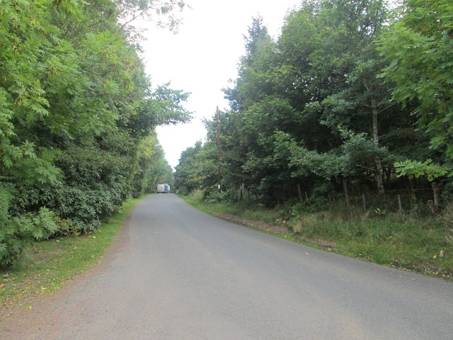 The Shieldhill Road heading away from Quothquan