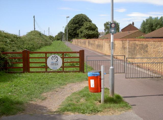 Apex Park entrance