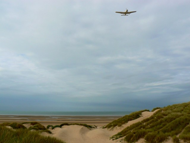 Aircraft inbound to Blackpool International Airport