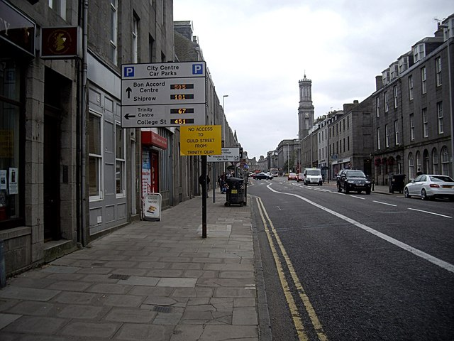Looking south down King Street, Aberdeen