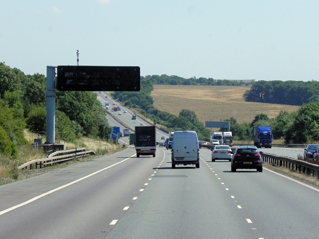 Southbound M6