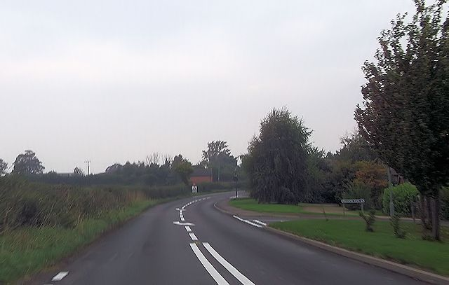 B4386 entering Yockleton