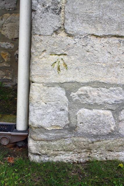Benchmark on The Manor Farm house