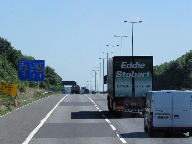 Southbound M6, Catthorpe
