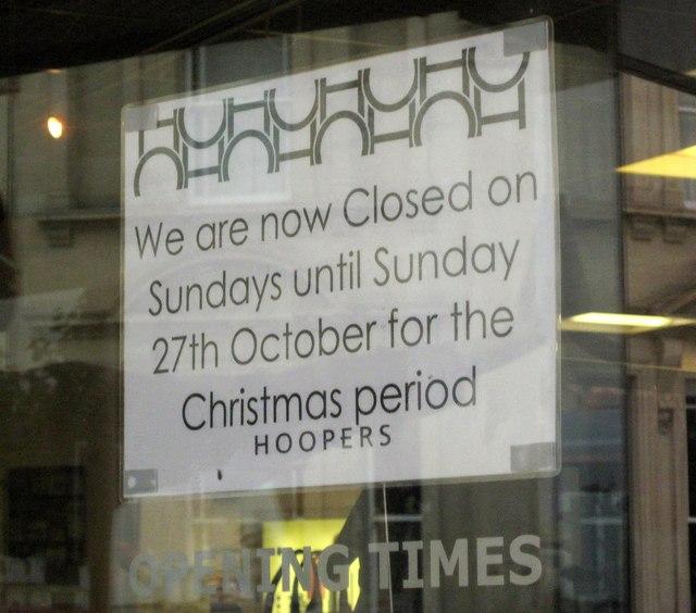 Notice, Hoopers, Torquay