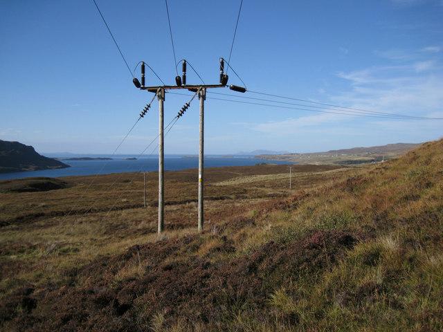 Power line in Waternish