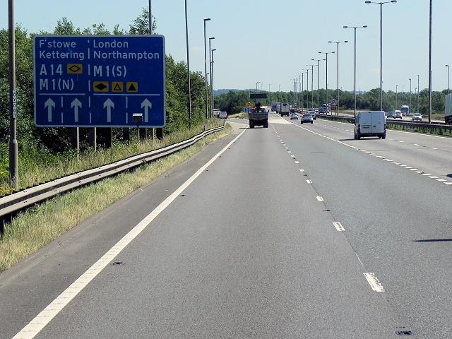 M6 Motorway, Catthorpe Interchange