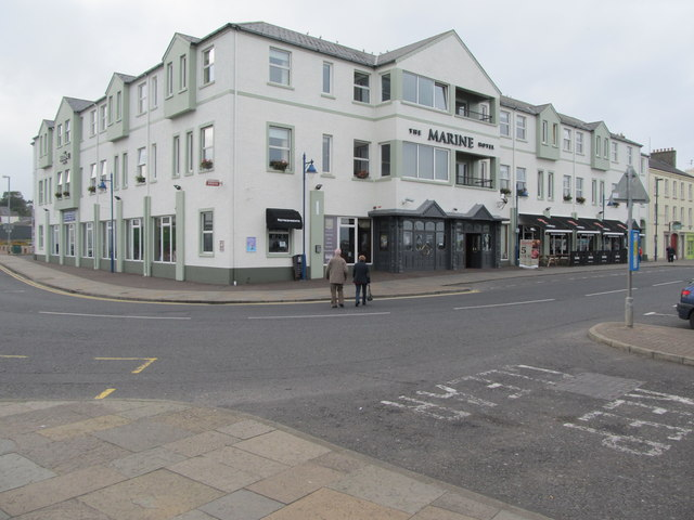 The Marine Hotel Ballycastle Viewed From Corner