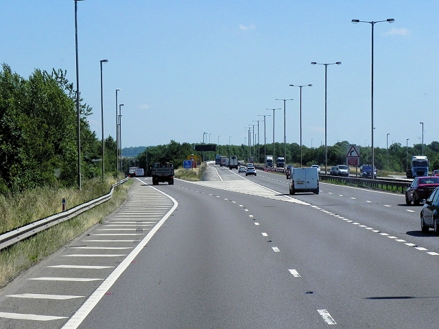 M6, Exit at the Catthorpe Interchange