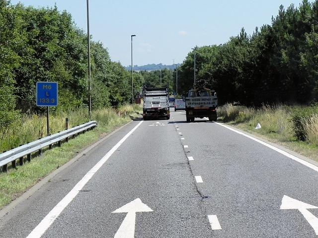 M6 Sliproad at Catthorpe Interchange