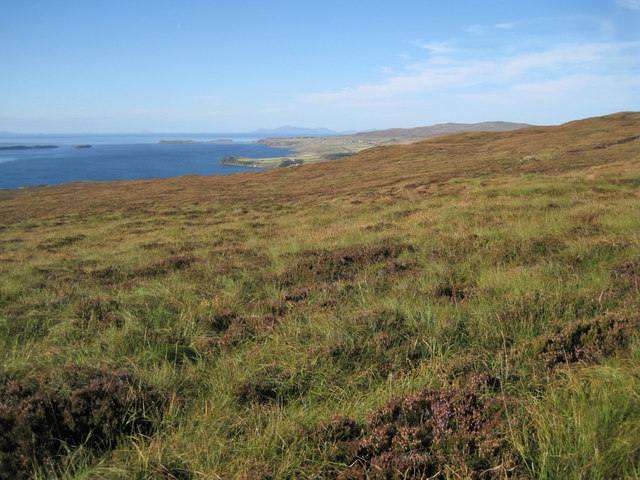 Waternish peninsula, west facing slope