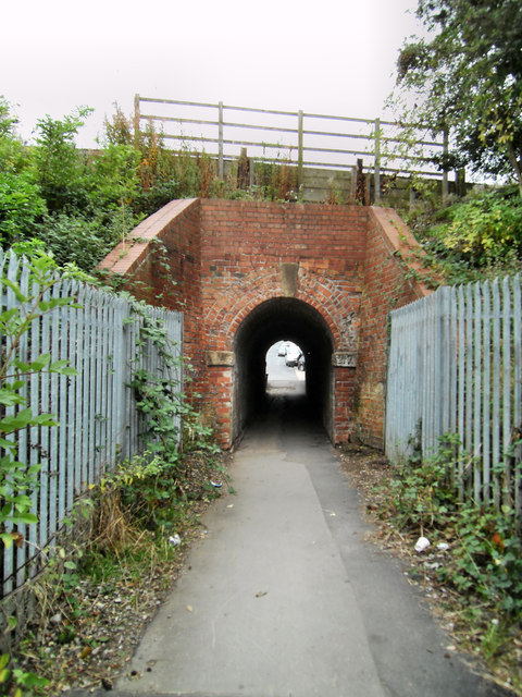 Footpath and Tunnel under railway