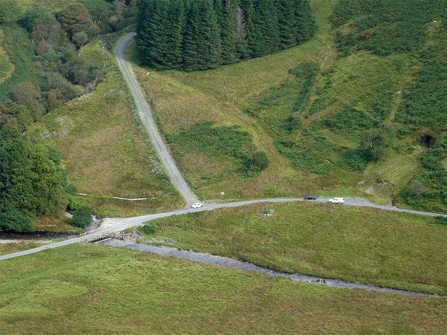 Cwm Irfon south of Bryn Du, Powys