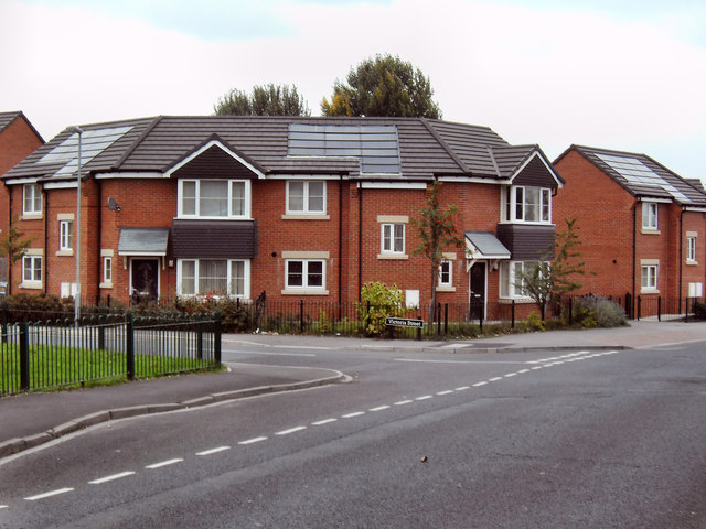 Energy efficient housing at Pontefract West Yorkshire