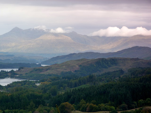 Loch Awe from the Leacainn Forest Drive