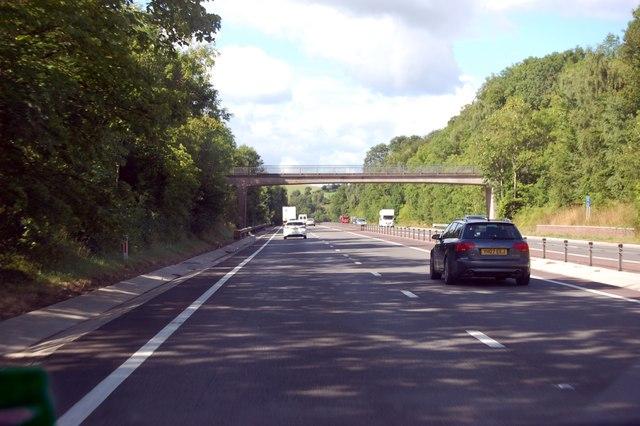 A40 footbridge near Mitchel Troy
