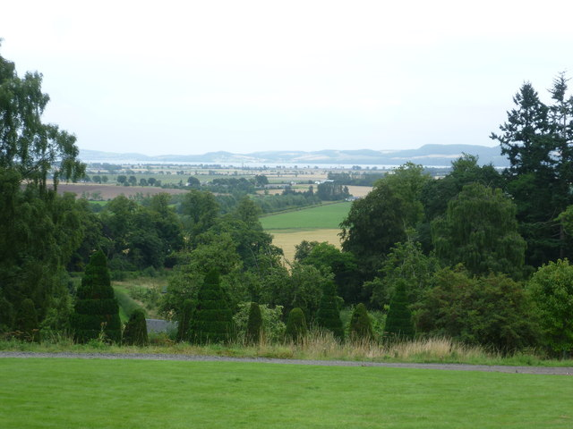 View from the grounds of Fingask Castle