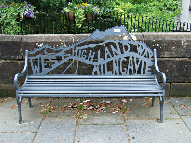 West Highland Way bench