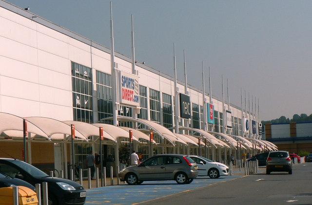 Shop units at the Morfa Retail Park