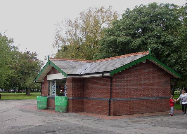 The refreshment kiosk in Victoria Park