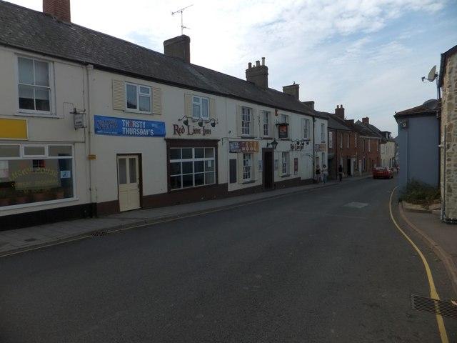 Red Lion inn, Lyme Road, Axminster